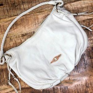 Cream Elliott Lucca leather purse